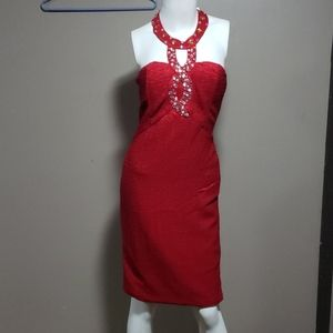 Romeo & Juliet Couture Red Cocktail Dress M NWT